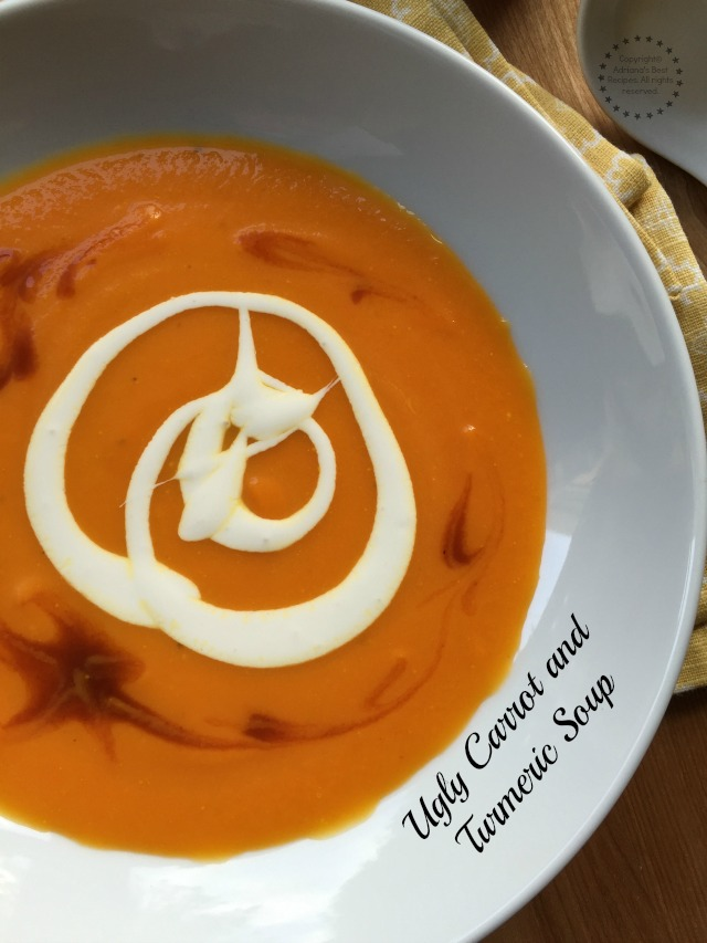 Ugly carrot and turmeric soup recipe for lent
