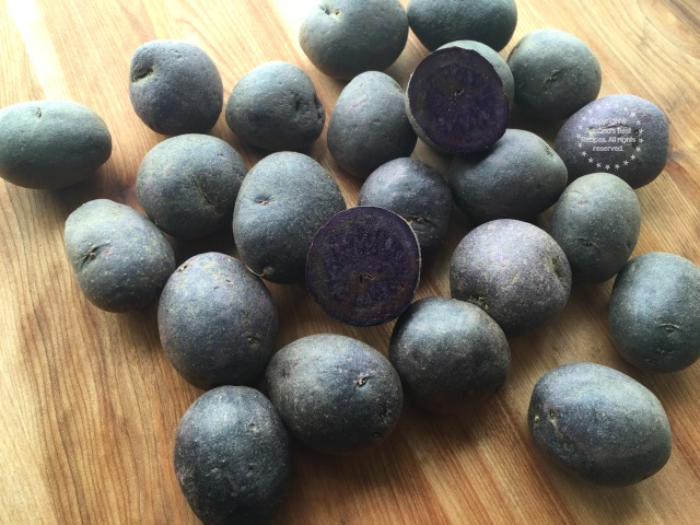 Purple potatoes can be easily found and are available in most markets year round