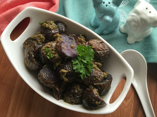 You can also serve the Pesto Purple Potatoes as an appetizer or as a side dish