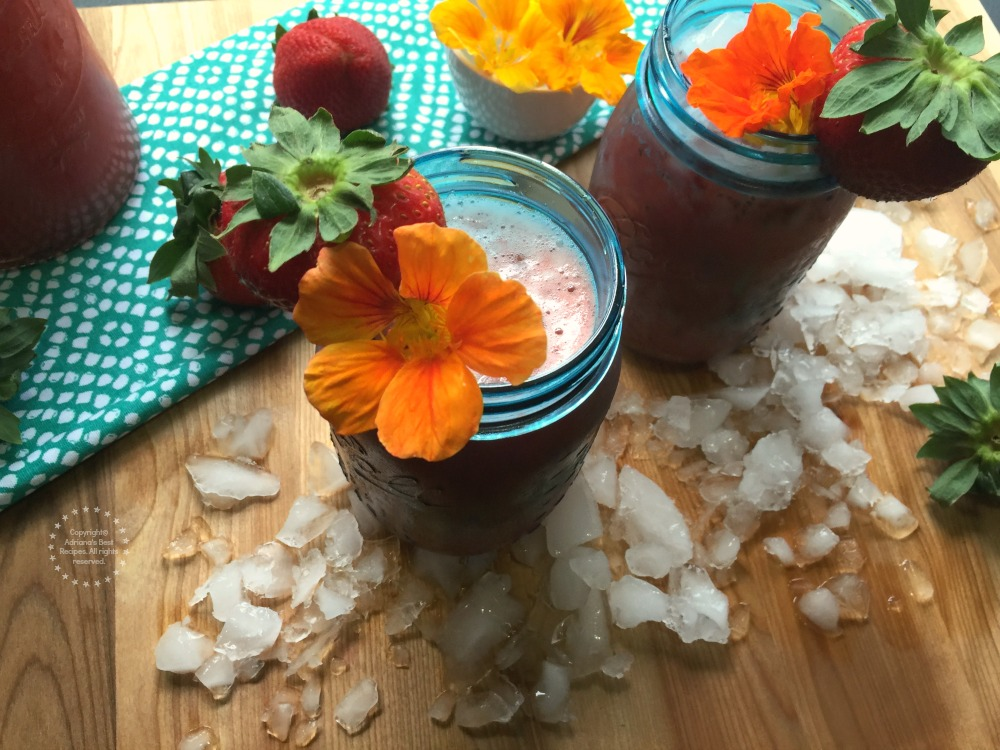 A kid friendly Strawberry Chia Agua Fresca