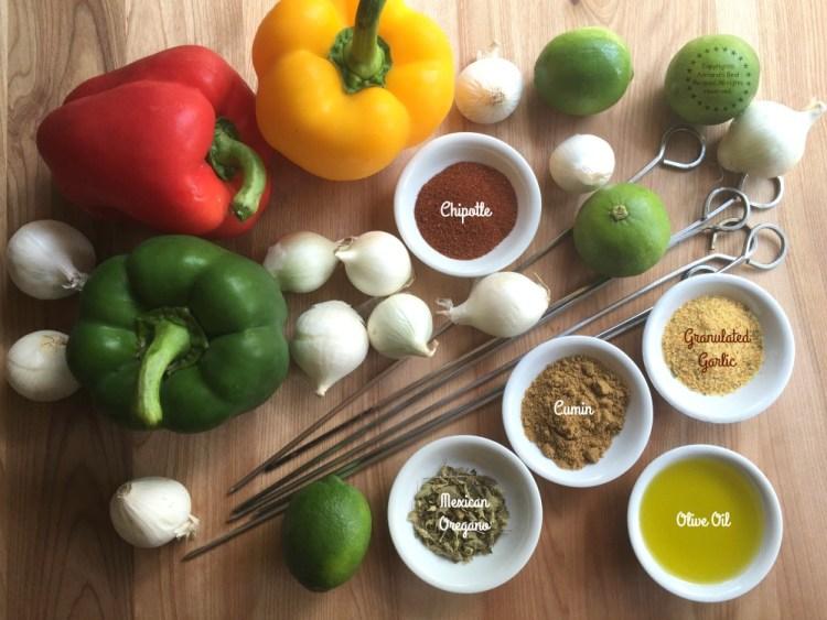 Ingredientes para los Alambres de Puerco en Chipotle