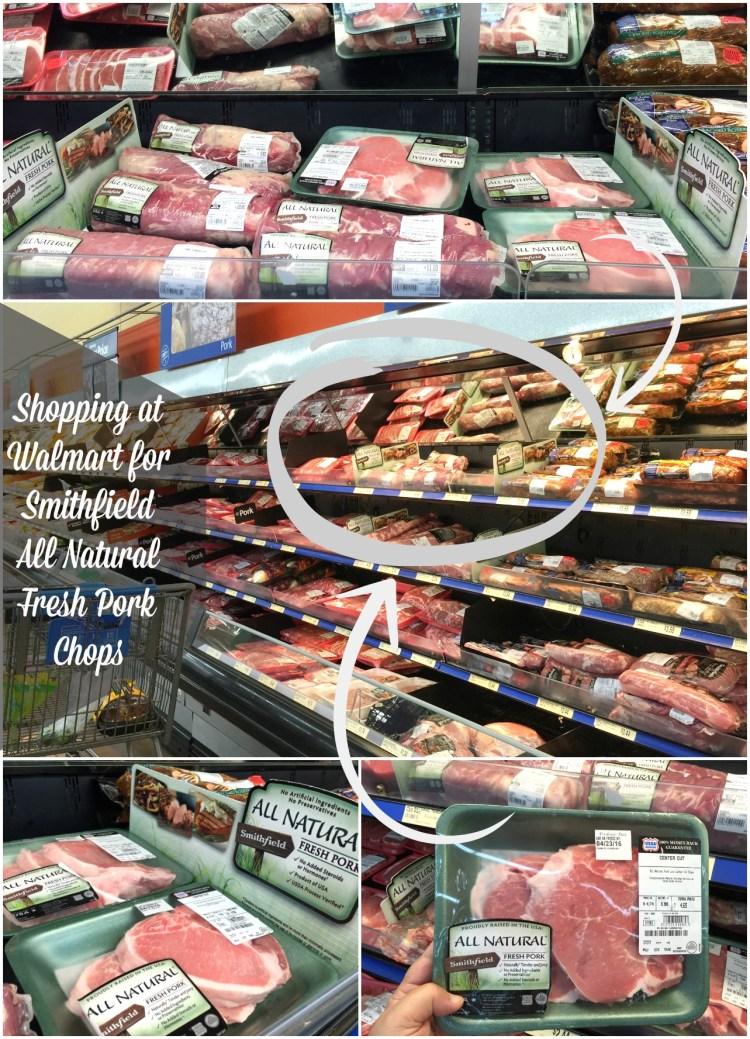 Shopping at Walmart for Smithfield All Natural Fresh Pork Chops