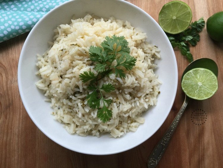 This cilantro lime rice goes perfect with grilled pork