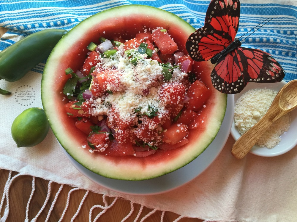 Grilled watermelon salsa is one of my staples for grilling season