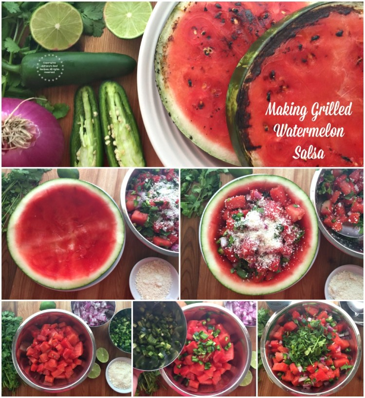 Making Grilled Watermelon Salsa