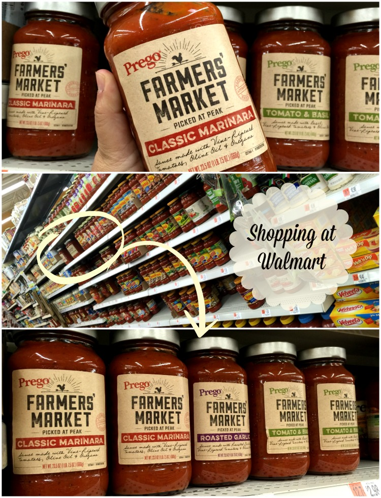 Shopping at Walmart for Prego Farmers Market Classic Marinara