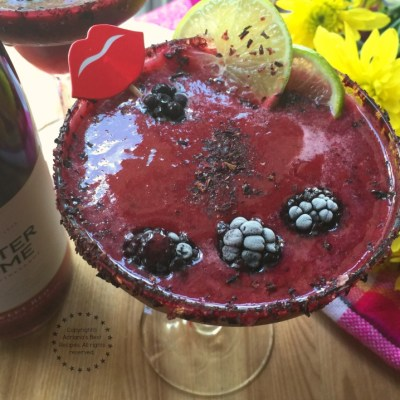 Spicy Blackberry Wine Rita