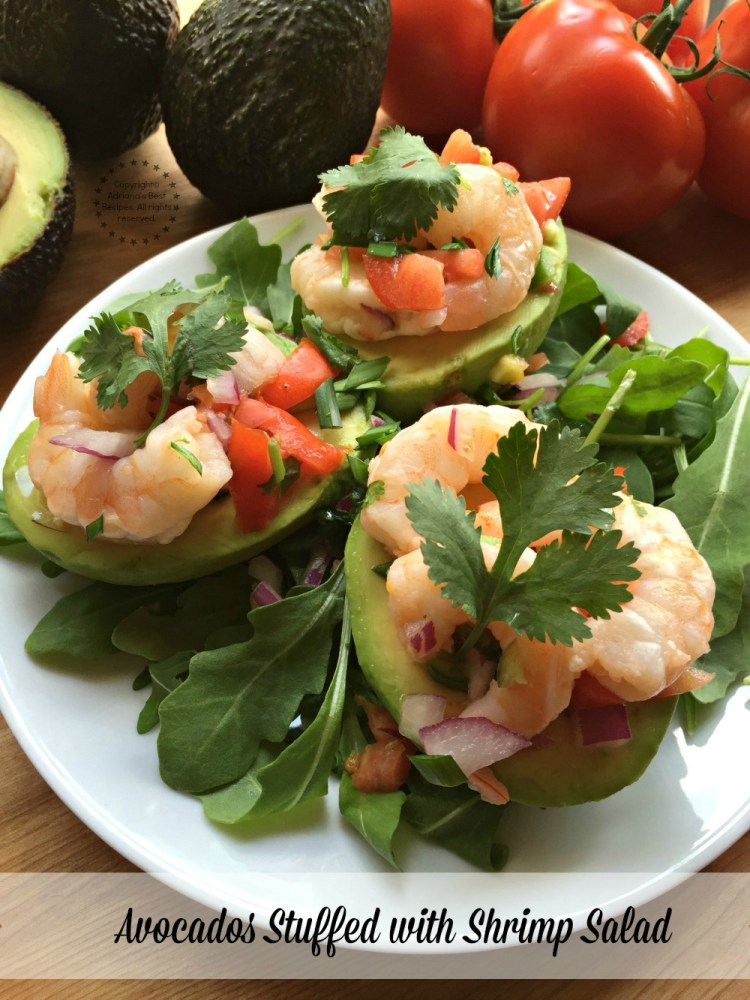 Aguacates stuffed with shrimp salad using fresh Avocados From Mexico