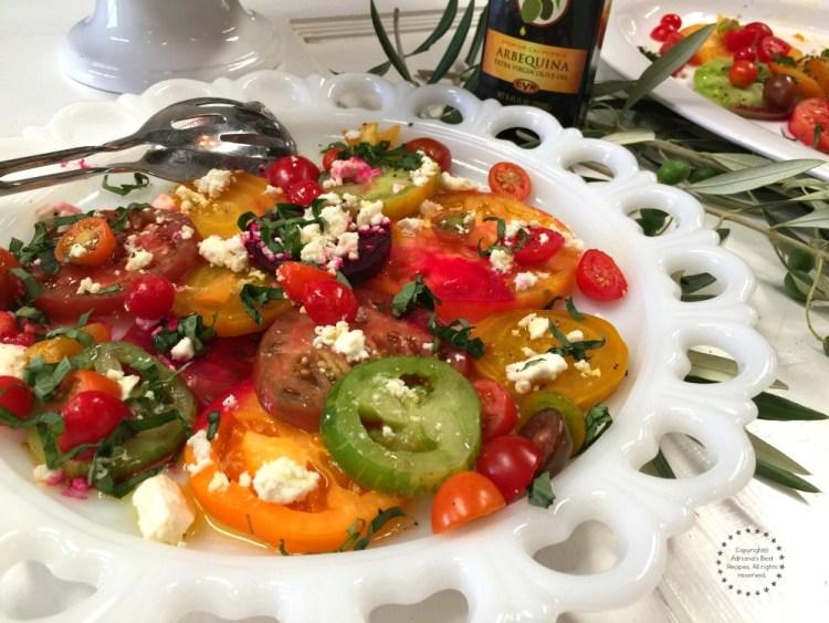 Beautiful heirloom tomato and beet salad