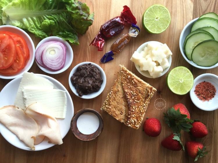 Ingredientes para la Lonchera Bento a la Mexicana