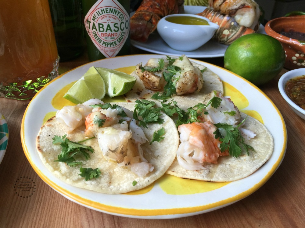 Lobster tacos for the taquiza menu