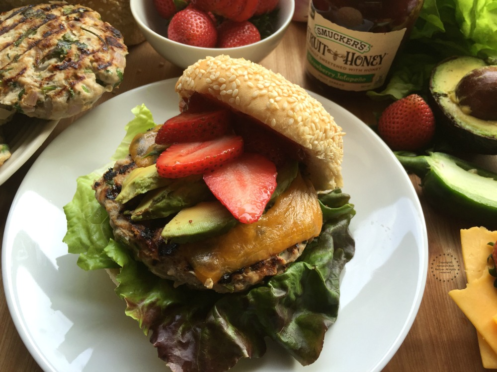 Strawberry Jalapeno Turkey Burger