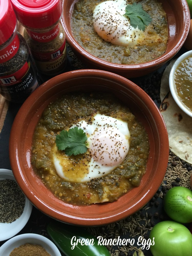Green Ranchero Eggs recipe for the celebration of my Mexican culture and traditions