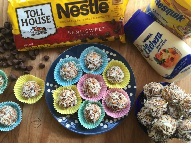 Mexican Chocolate Peanut Truffles with Coconut made with NESTLE brand products