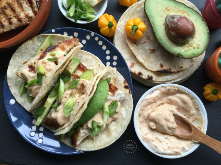 A yummy recipe made with corn tortillas and garnished with green onion