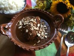 Almond Mole recipe inspired in the traditional Mexican Almendrado
