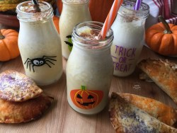 Making a ghoulish Mexican Pumpkin Shake to share with all the family