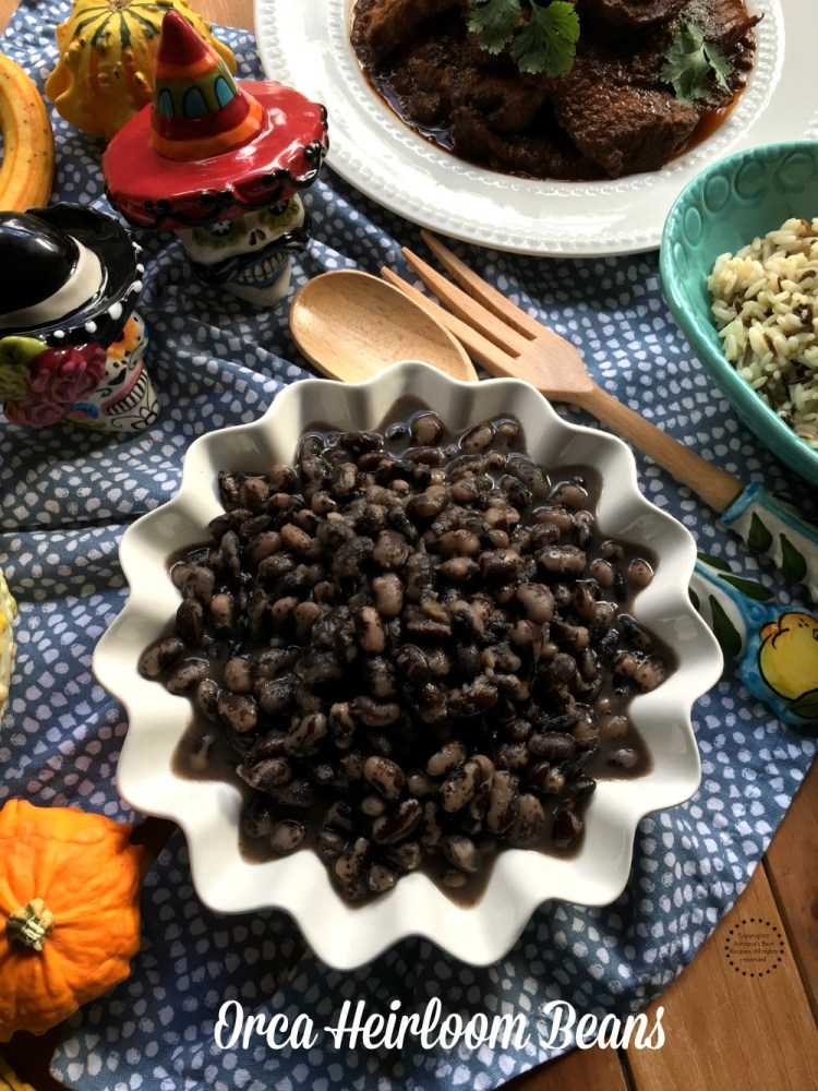 The Orca heirloom beans are native to the Caribbean