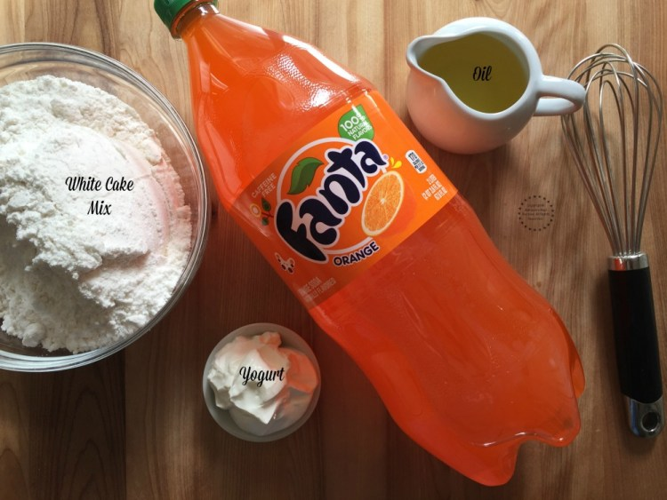 Ingredients for the Fanta Cupcakes in a Jar