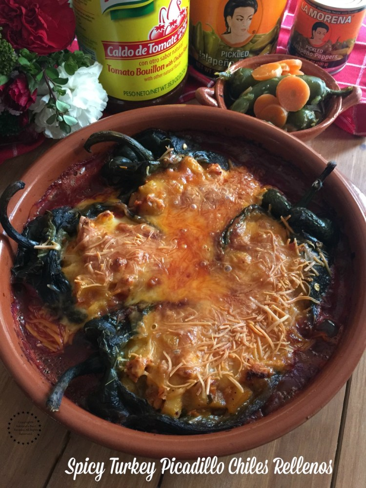 Spicy Turkey Picadillo Chiles Rellenos for your holiday table