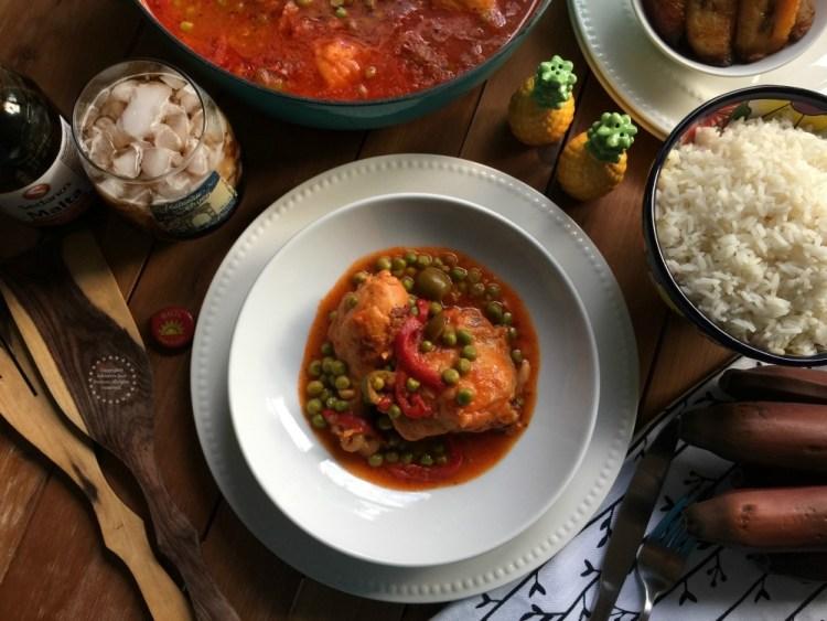 This chicken fricassee is inspired in my suegra's original recipe