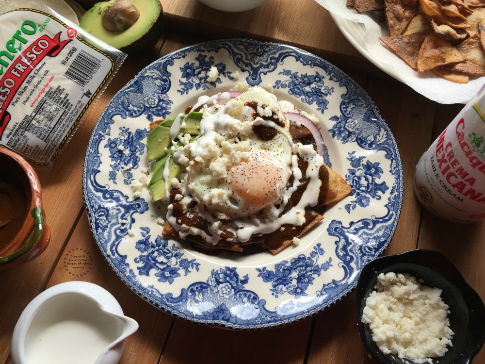 Using authentic ingredients it is what makes the Mole Chilaquiles a perfect dish