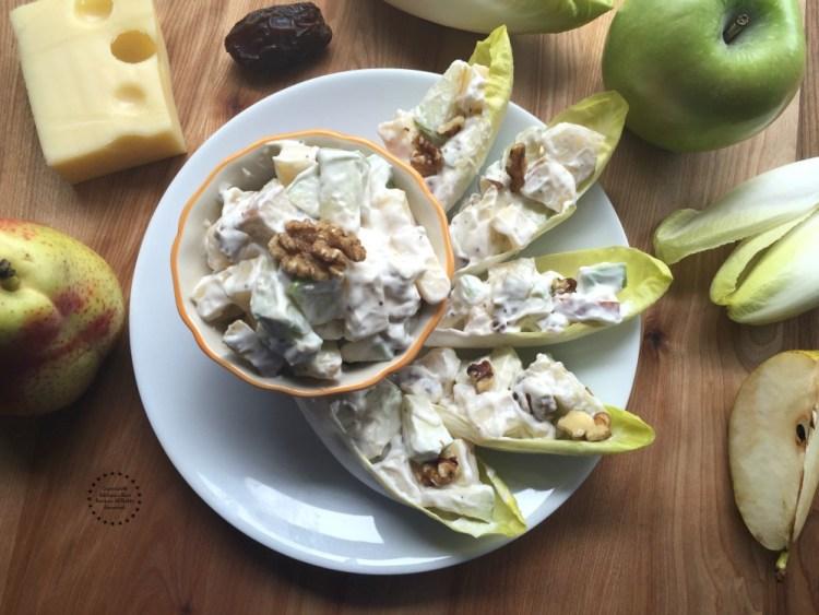 Deliciosas Endivias Rellenas de Ensalada de Manzana