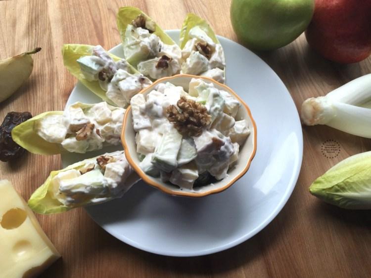 Endivias Rellenas de Ensalada de Manzana excelentes para la cena de año nuevo