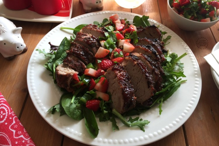 Strawberry Jalapeño Pork Loin
