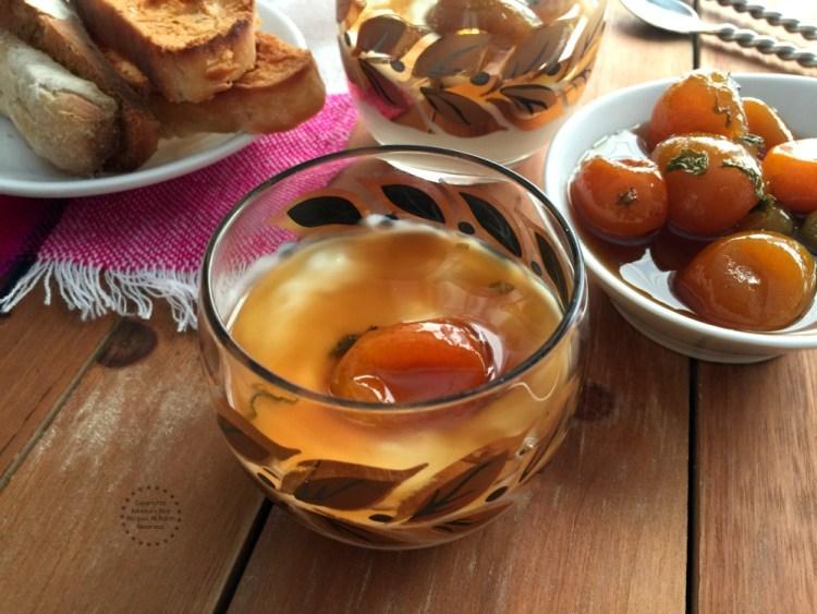 Honeycomb kumquat confit paired with Greek yogurt