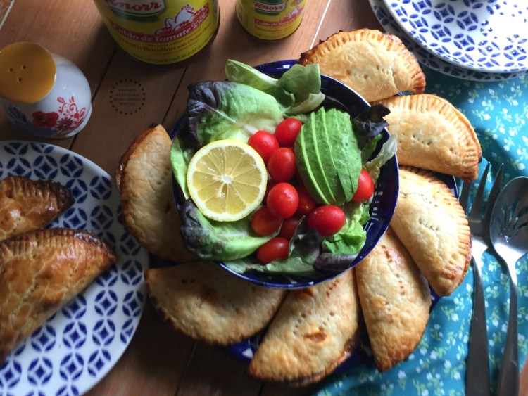 Spanish Salmon Empanadas paired with a fresh salad