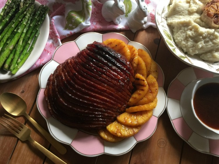 Easy Chipotle Pineapple Ham a complete meal for Easter