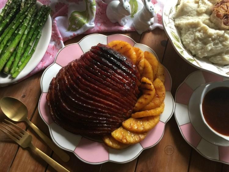 Chipotle Pineapple Ham for Easter Brunch