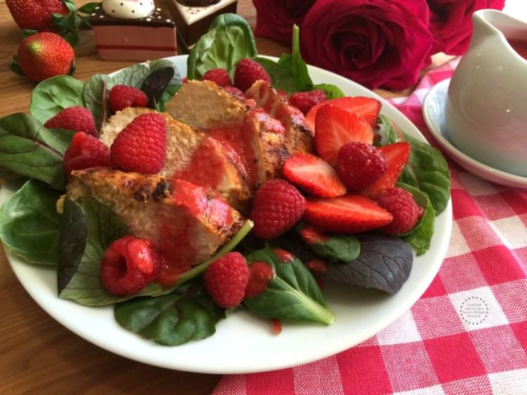 Beautiful Sriracha Raspberry Chicken Salad Ready in Minutes