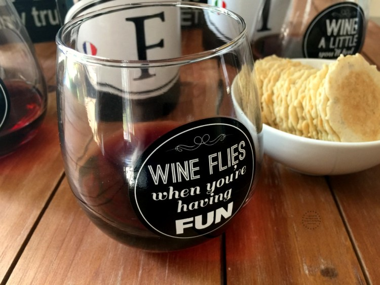 F from France makes it fun to drink red wine