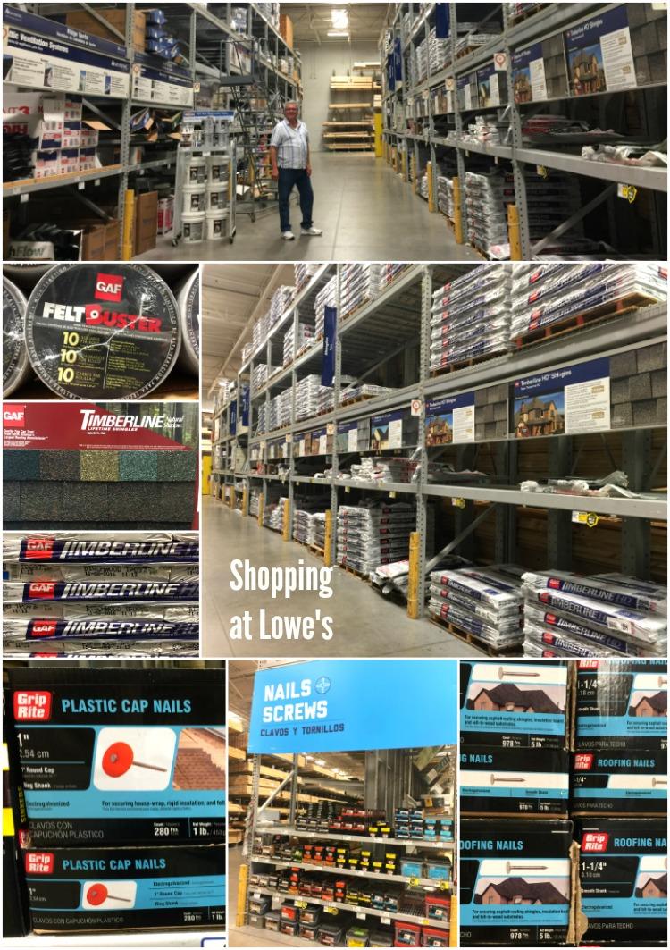 De compras en Lowes en donde compramos materiales de calidad para nuestro proyecto DIY