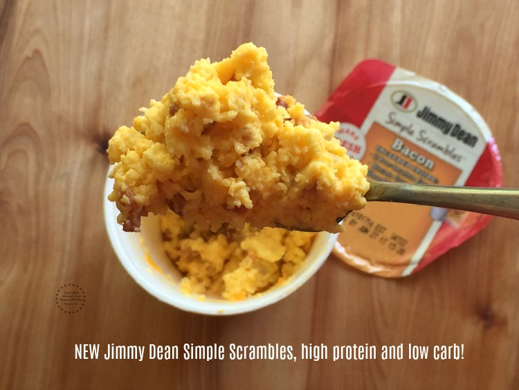 NEW Jimmy Dean Simple Scrambles high protein and low carb