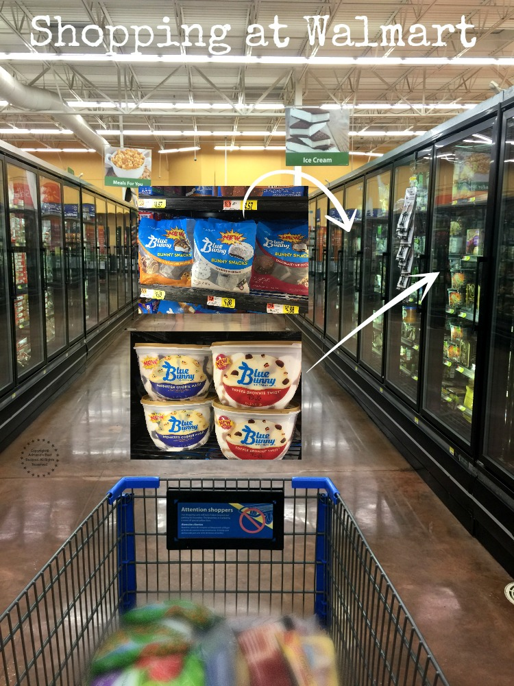 Shopping at Walmart at the Ice Cream Aisle
