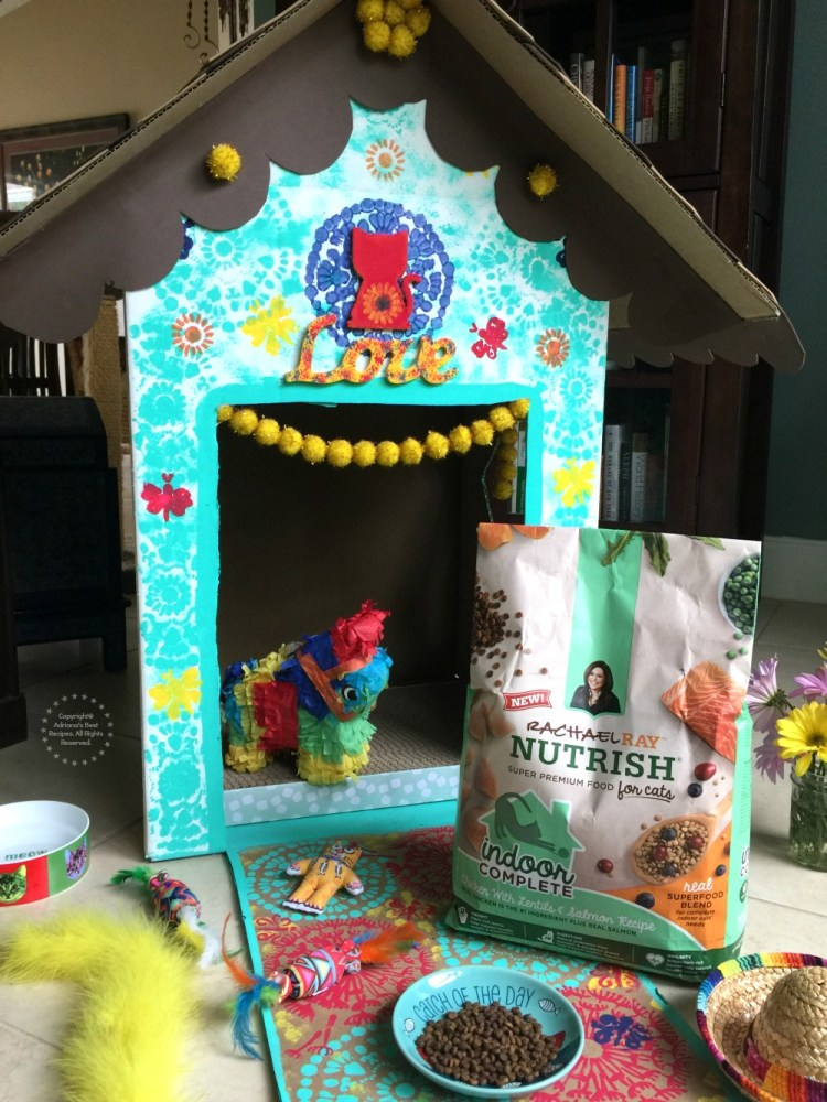 A fun DIY for an indoor cat playhouse