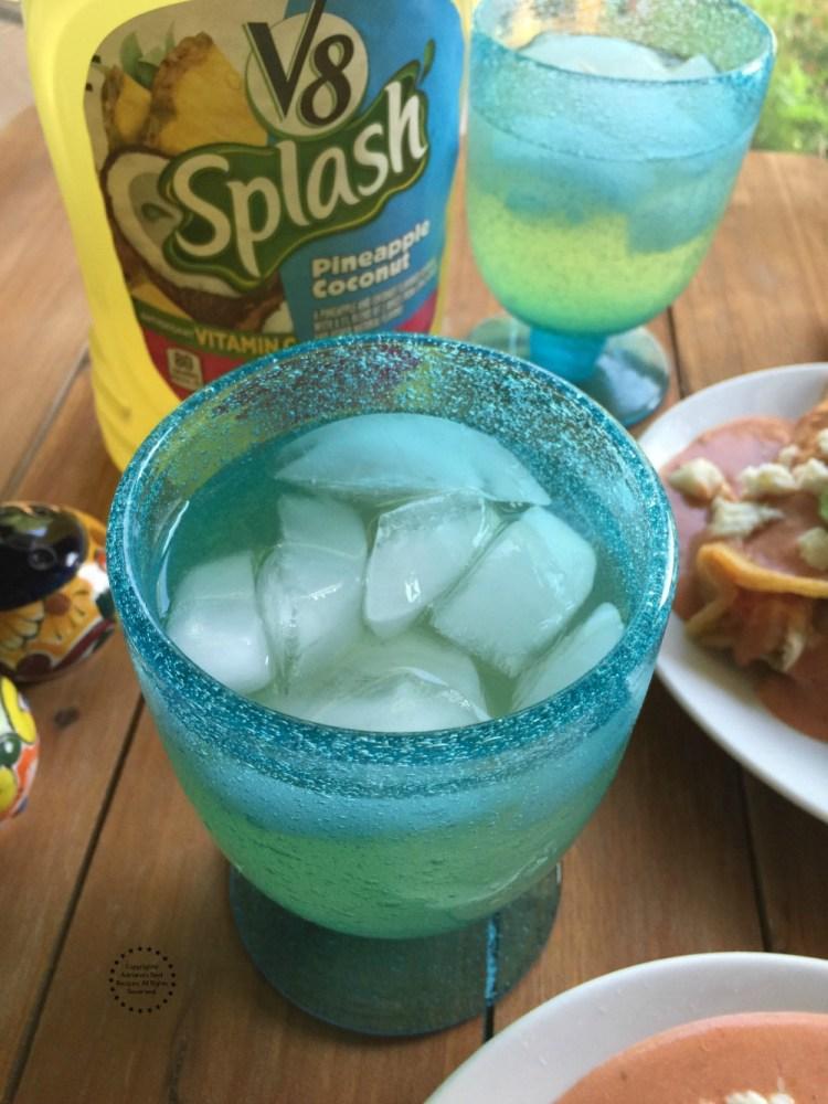 Pairing the Enchiladas with V8 Splash Deliciously Fruity, Wonderfully Refreshing!