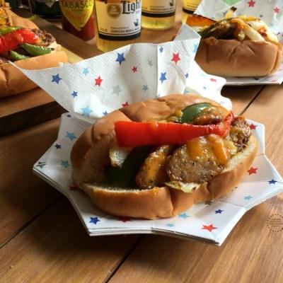 Chicken Fajita Hot Dogs for the Summer