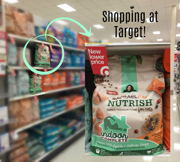 Shopping at Target for Nutrish Indoor Complete