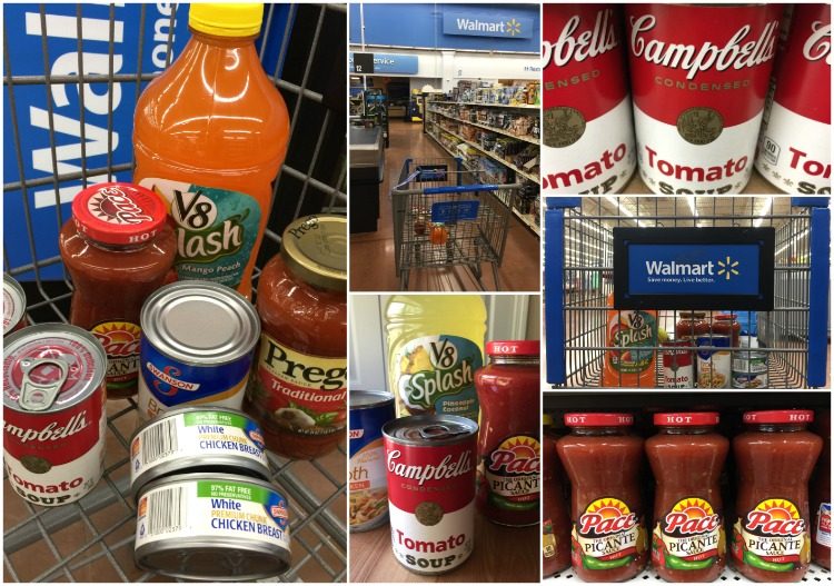 Shopping at Walmart for Campbell Soup Company products