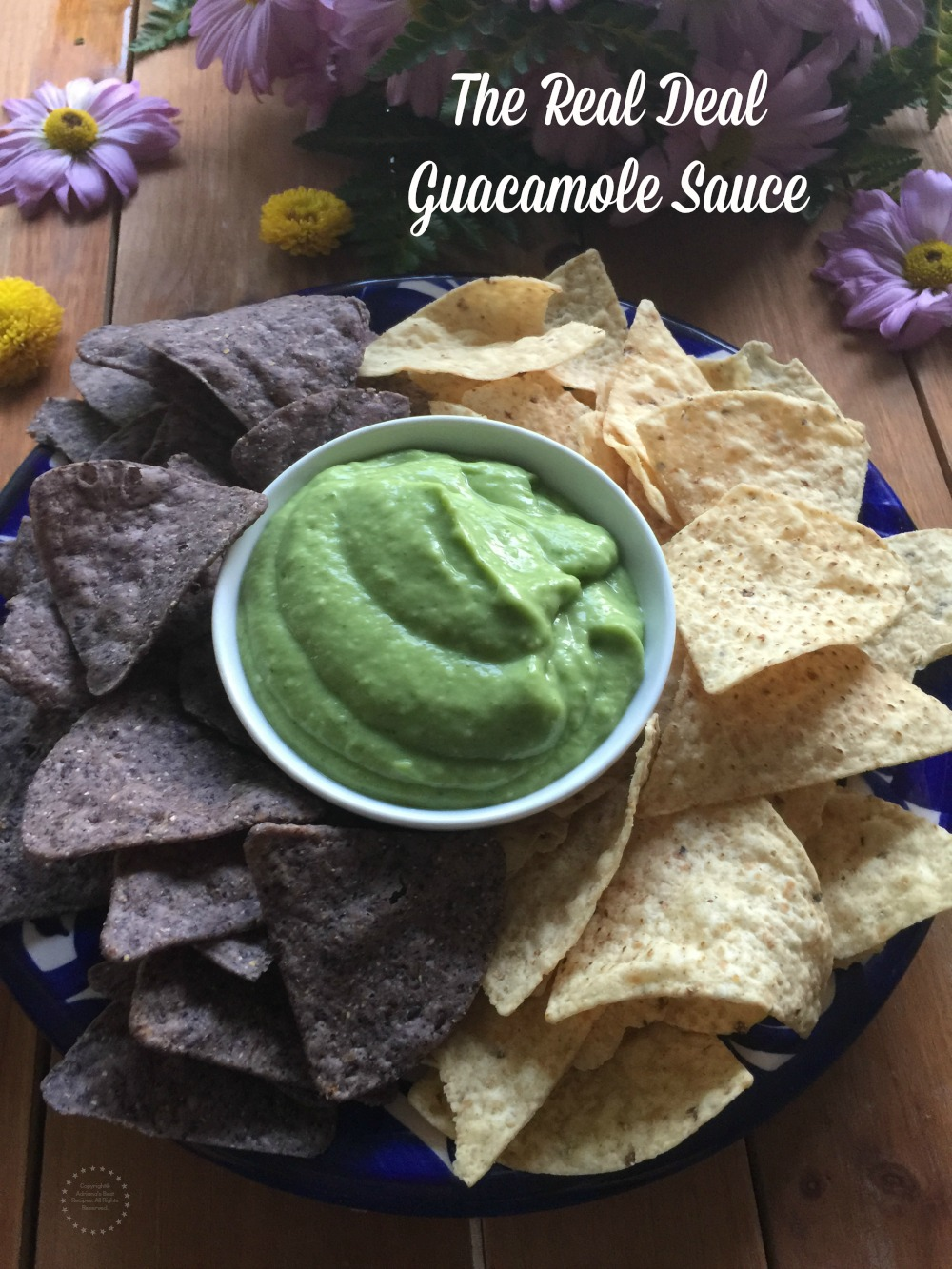 This is the real deal guacamole sauce. Made with Mexican hass avocados, tomatillos, serrano chiles, cilantro and garlic