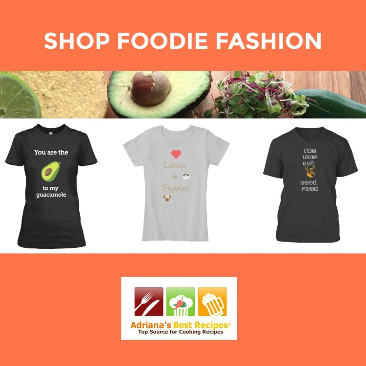 Shop Foodie Fashion at Adriana's Best Recipes