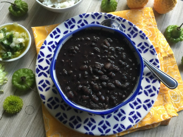 A small homage to my father in law making his recipe for Cuban Black Beans
