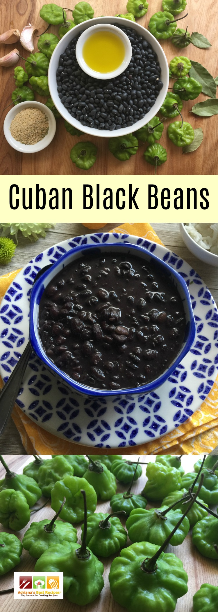 Cuban black beans, a classic family recipe made with dried black beans