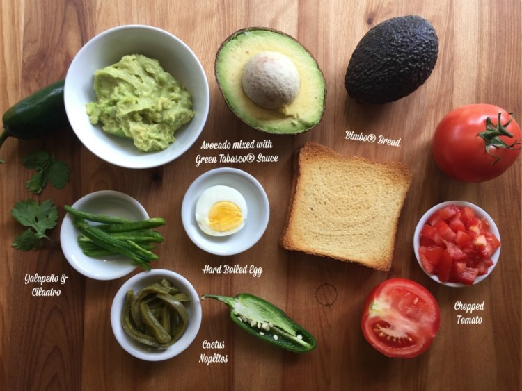 Only yummy ingredients for this Mexican Avocado Toast