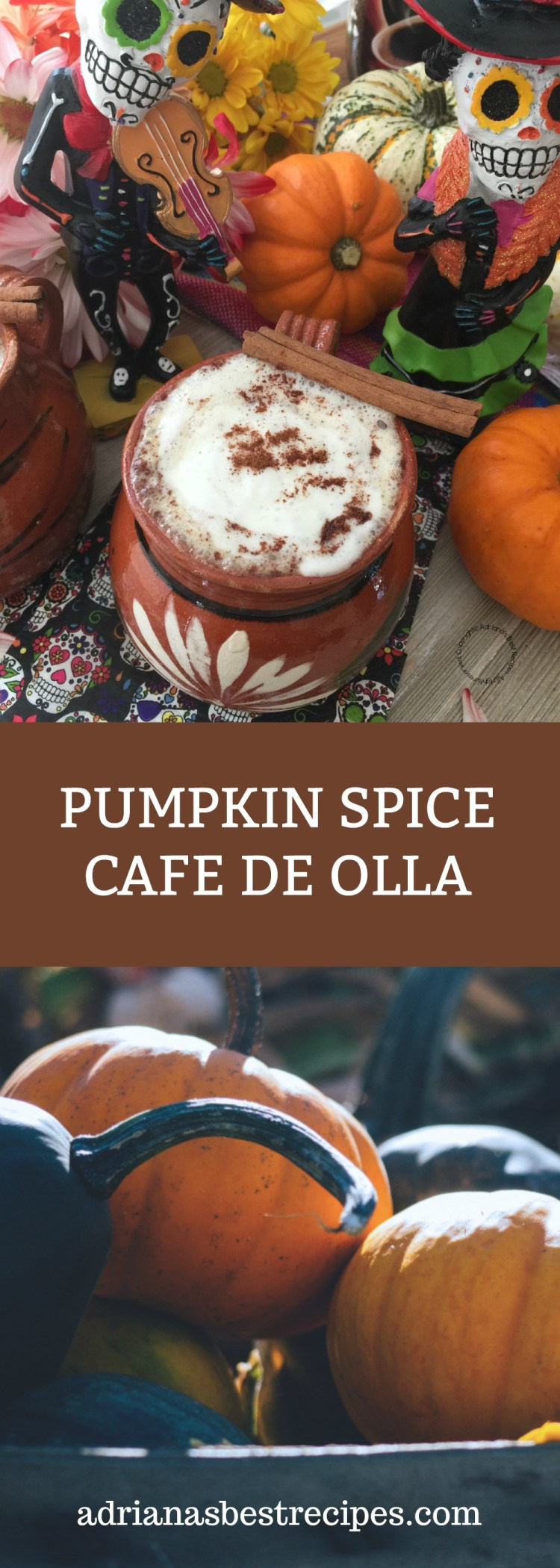 The Pumpkin Spice Cafe de Olla is inspired by the Pumpkin Spice Caffe Latte but with a Mexican touch. A yummy option for the Day of the Dead feast