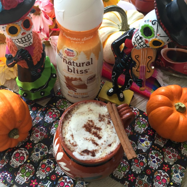 This pumpkin spice cafe de olla recipe is made with COFFEE-MATE natural bliss Pumpkin Spice Flavor Creamer an all natural coffee creamer